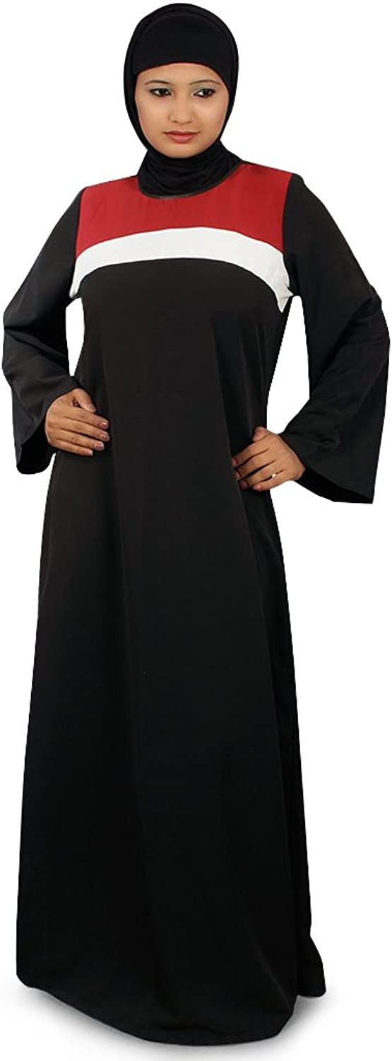 MyBatua Women's Islamic Clothing Yasmeen Abaya in Black