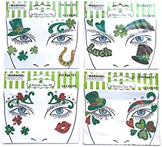 St Patricks Day Accessories Costume Temporary Glitter Face Art 45 Pieces Ages 12 and Up