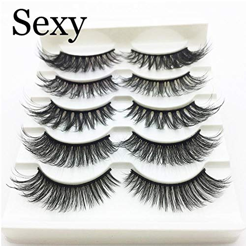 KADIS 5 Pairs Faux 3D Lashes Fluffy Wispy False Eyelashes Natural Long Eyelash Extension Makeup Handmade Fake Lash,3D-22,Lashes
