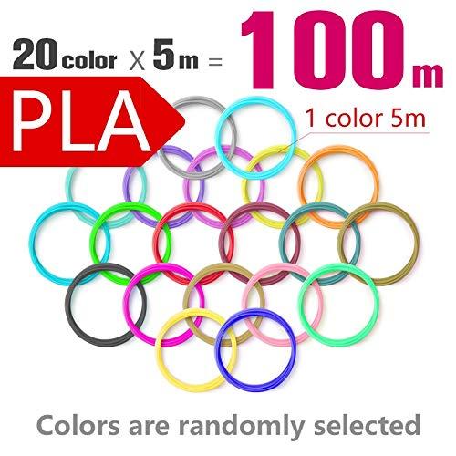 L-SHUNBAO LSB-3D Prints, 1pack Pla 1,75 mm 20 Colores 3D Pluma de filamentos 1.75mm Pla Pla plástico ABS Filamento Filamento 3D 3D Impresora Pla 3D Pluma Wire (Color : 20color5M Total 100M)