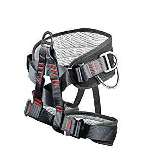 Eleven Guns Adjustable Thickness Climbing Harness Half Body Harnesses for Fire Rescuing Caving Rock Climbing Rappelling Tree Protect Waist Safety Belts (Black) (B07HHXXGR3)   Amazon price tracker / tracking, Amazon price history charts, Amazon price watches, Amazon price drop alerts