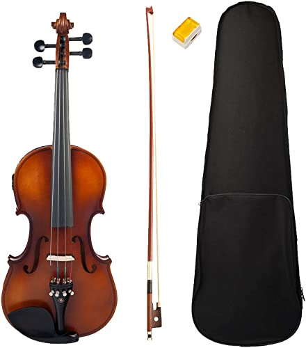 B Blesiya Professionelle stille elektrische akustische Violine Elektrische Geige für 4 4-Größe