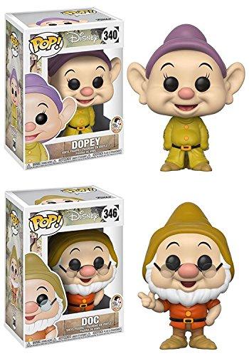 Funko POP! Disney: Blancanieves y los siete enanitos: Mudito + Sabio
