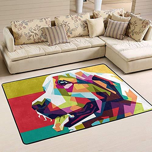 Fun-World Area Rug Tapis coloré pour Chien Tapis coloré Moderne pour Salon Chambre à Coucher Tapis de Chambre de bébé Lavable en Machine,150X100Cm