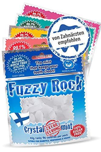 Zuckerfreie Xylit Bonbons (Kristalle) 5er Pack I 99% finnischer Xylit in reiner Form ohne Zusatzstoffe I Zuckerfreie, kalorienarme Süßigkeit I Zahnpflege mit Xylitol Birkenzucker in 5 Sorten