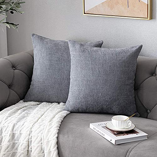 Anickal Grey Pillow Covers 20x20 Inch Set of ...