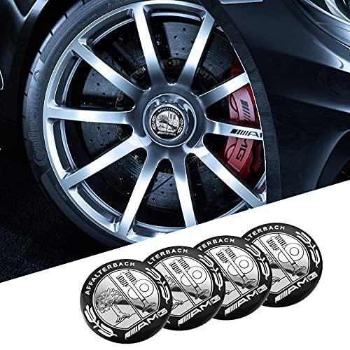 Tapas De Cubo De Centro De Rueda 1set Coche Pegatinas de la rueda de automóviles 56 mm Auto Center Hub Cap Decal Compatible con Mercedes Benz AMG W203 W204 W205 W210 W211 W212 W213 W214 W220 W221 Cubi