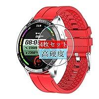 4枚 Sukix フィルム 、 SENBONO S82 smart watch スマートウォッチ 向けの 液晶保護フィルム 保護フィルム シート シール(非 ガラスフィルム 強化ガラス ガラス ) new version