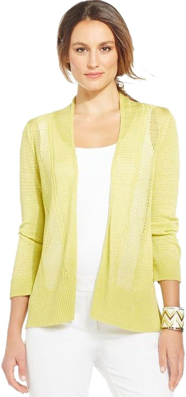 Alfani Womens Large Petite Open Front Cardigan Sweater