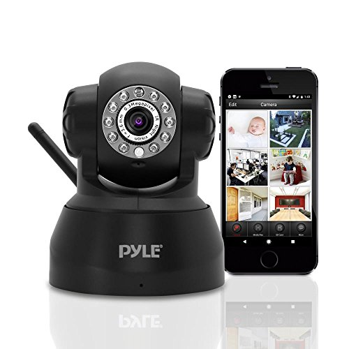 Indoor Wireless Security IP Camera - Home WiFi Remote Video Monitor w/Motion Detection and Night Vision - PTZ Pan Tilt Network Surveillance, Voice Mic Audio for Mobile, Windows & Mac - Pyle PIPCAM5
