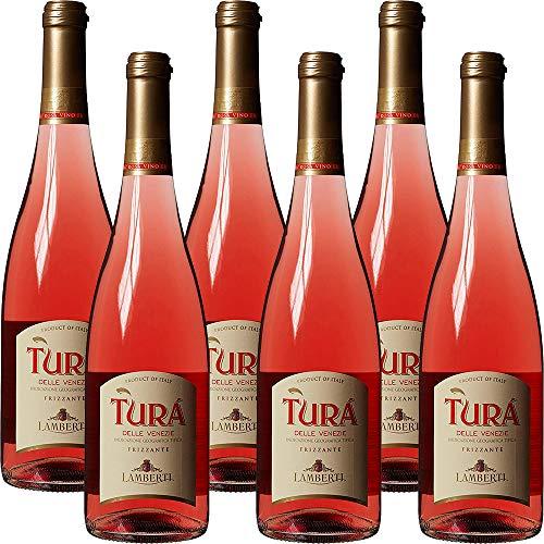 Vino Rosè Frizzante | Turà Trevenezie IGT | Veneto | 6 Bottiglie 75Cl | Per Happy Hour | Dopocene Easy Chic | Idea Regalo