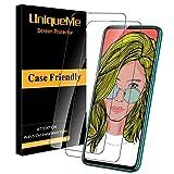 UniqueMe [2 Pack] Cristal Templado para Huawei P Smart Z, Protector de Pantalla [9H Dureza ] [Sin Burbujas] HD Film Vidrio Templado para Huawei P Smart Z