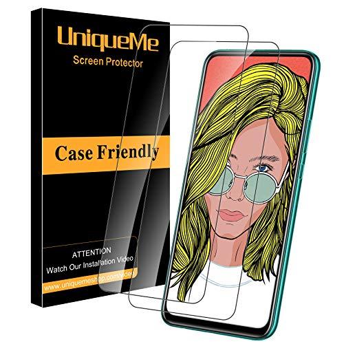 UniqueMe [2 Pack] Schutzfolie für Huawei P Smart Pro/P Smart Z Panzerglas, Bildschirmschutz für Huawei P Smart Pro/P Smart Z, HD klar Folie gehärtetes Glas