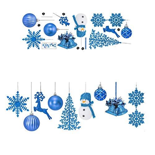 Maxpex Feliz Navidad creativa copo de nieve Fawn Ball Adhesivo de pared 3D Decoración de ventana calcomanías removibles ideal decoración de Navidad para fiesta de cumpleaños, familia