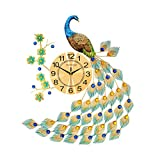 CWall Despertador, Reloj De Pared Silencioso For No Tictac, Reloj De Pared Decorativo, Europa Del Pavo Real Relojes De Pared Del Hogar Del Reloj De Pared De Silencio Creativo Reloj De Cuarzo Reloj Mod