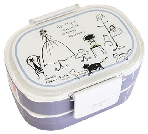 Shinzi Katoh Bento Lunch Box: Utilisation simple ou encadré 2 étapes Chats de Paris