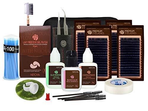 Neicha Premium Silk Set Professional - Extensiones de pestañas (0.20x(10,11,12,13))
