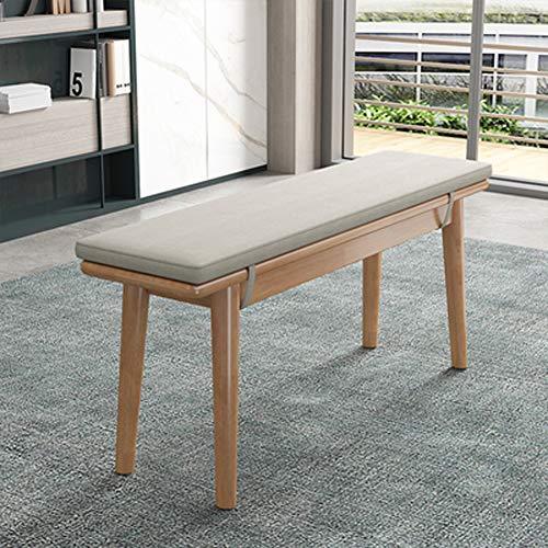 ANQI - Cojín largo relleno de espuma para banco de interior, cojín para silla relajante y columpio al aire libre 2/3 plazas, colchón de repuesto de color gris 140 x 30 x 2