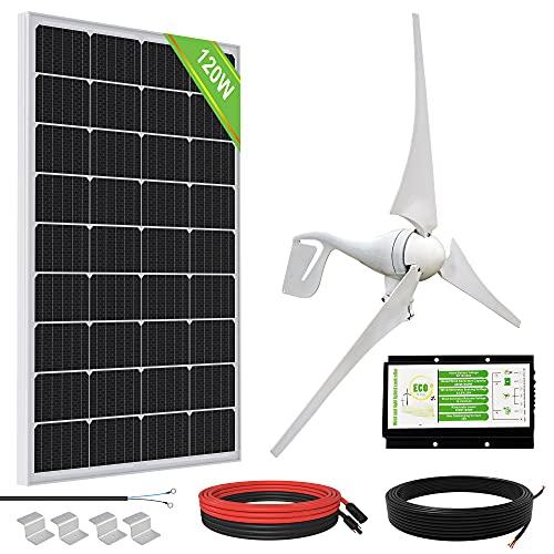 ECO-WORTHY Sistema de Aerogeneradores Solare 400W 500W 600W 12V (500W Kit)