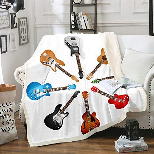 Manta de forro polar con diseño de música rock para niños y...