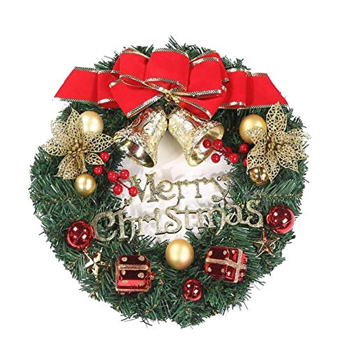 US Warehouse - Pendant & Drop Ornaments - 30CM Snowman Christmas Deer Wreath Garland Ornaments Christmas Party Decoration Home Decor Party Decor C10 - (Color: D, Size: S)