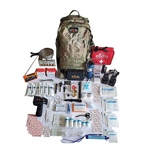 Ultimate Bug Out Bag III Premium Emergency Survival Kit (Newest Version) (Black 50L)