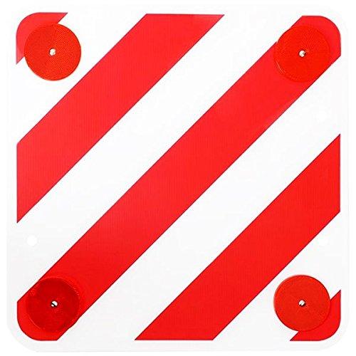 Warntafel aus Kunststoff mit Rückstrahlern 50x50 cm für Wohnmobil, Boot und Fahrradträger