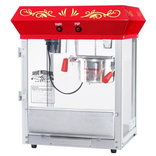 Check Out This 6131 Great Northern Popcorn Red All Star GNP-450 Classic Popcorn Machine Top, 4 oz