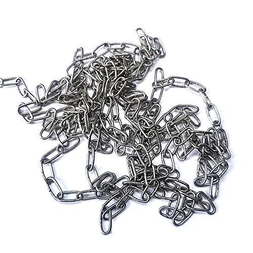 KAIISSA Edelstahlkette Starke, Hochbelastbare Geschweißte Kettenglieder zum Aufhängen von Zäunen, Gehen mit der Hundekette, Schwenkkette, Trocknen der Wäschekette, Maximale Belastung 15KG, 1,5mm - 4M