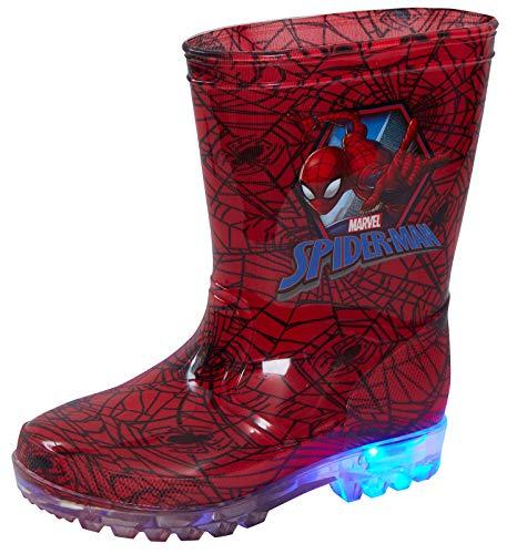 Marvel Spiderman Leuchtende Gummistiefel / Schneestiefel für Kinder, Rot - rot - Größe: 34 EU
