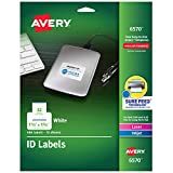 Avery 06570 Permanent ID Labels for Laser and Inkjet Printers, 1.25 x 1.75 Inch, White, 480 Labels (6570)
