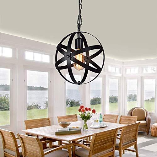 Restaurante candelabro simple hierro forjado industrial estilo retro, lámpara de globo de personalidad creativa nórdica (Style B)