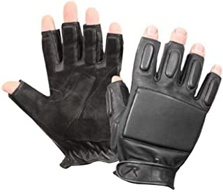 Black Fingerless Tactical Rappelling Gloves