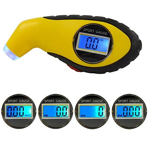 myfei tragbar mini Digital LCD Auto Reifen Luftdruck Manometer, Universal Manometer Barometer Tester Werkzeug für Auto Motorrad