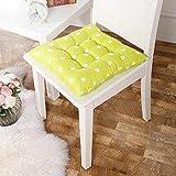 Stuhlkissen, einfarbig, gesteppt, weich, zum Festbinden, für zu Hause/Büro, Polyester, Grün...