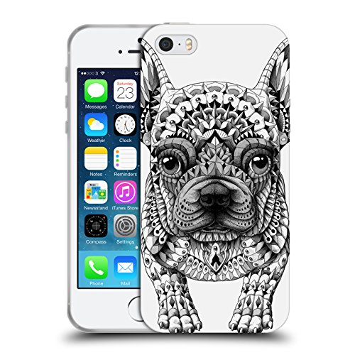 Head Case Designs Officially Licensed Bioworkz Frenchie Canine Soft Gel Case Compatible with Apple iPhone 5 / iPhone 5s / iPhone SE 2016