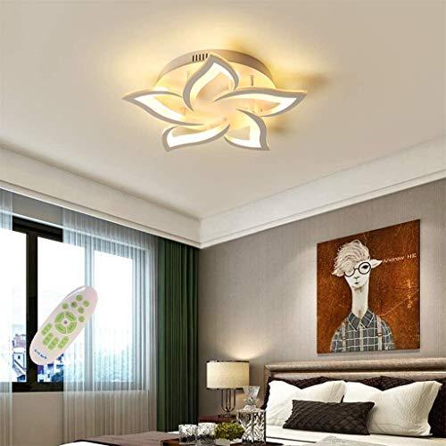 LED-Deckenleuchte Dimmbare Blumen Deckenleuchte Weiß 5 Blütenblätter Moderne ferngesteuerte Leuchte für Wohnzimmer Schlafzimmer Esszimmer Kinderzimmer Augenschutz 58 cm 40 W Kronleuchter