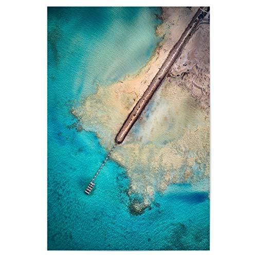 artboxONE Poster 60x40 cm Reise/Strand und Meer Gladstone - Bild Steg drohne australien