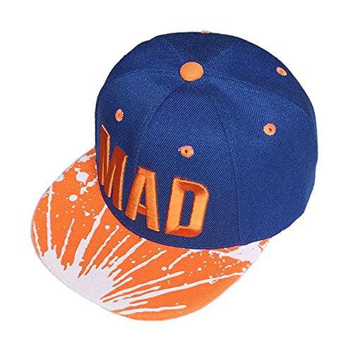 Vovotrade®Trend Hat Snapback Cap Casquette De Baseball Snapback Cap Kid Boys Girls Letters Casquettes De Baseball Plat Hip Hop Caps (Dark Blue)
