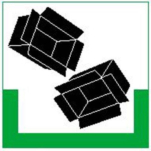 INDIGOS UG - Symbolschild Kartonagen/RESIGN, Alu-Dibond, 20x20 cm - Warnung - Sicherheit - Hotel, Firma, Haus