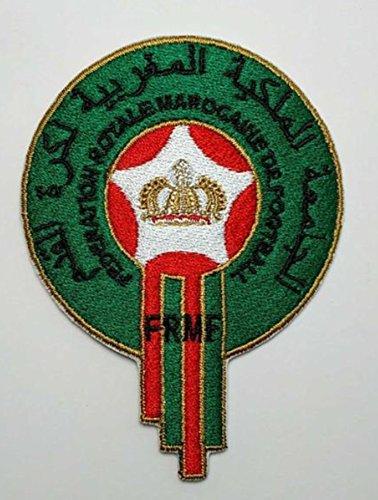 MAREL Patch Marruecos Selección Fútbol FIFA Soccer parche Parche Termoadhesivo Bordado cm 8,8x 6,5Replica