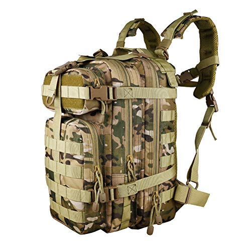 X&X Mini Tactical Backpack Hydration Pack Small Assault Rucksack 30L Molle System with Laptop Compartment Expandable...
