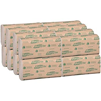 Marcal Pro Multi-Fold Paper Towels 100% Recycled 1-Ply Natural Color Hand Towels 250 Per Pack 16 Packs per Case for 4000 Total Green Seal Certified Towels P200N
