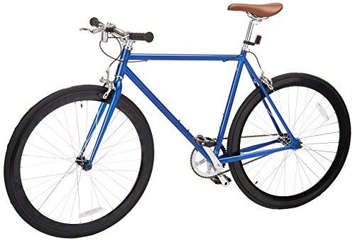 fr single speed bikes Vilano Rampage Fixed Gear Fixie Single Speed Road Bike, Matte Blue, Small/50cm