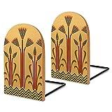 Fermalibri decorativi in legno, 2 pezzi, per tenere libri, libri di cucina, DVD, mosse e fiori egiziani vittoriani