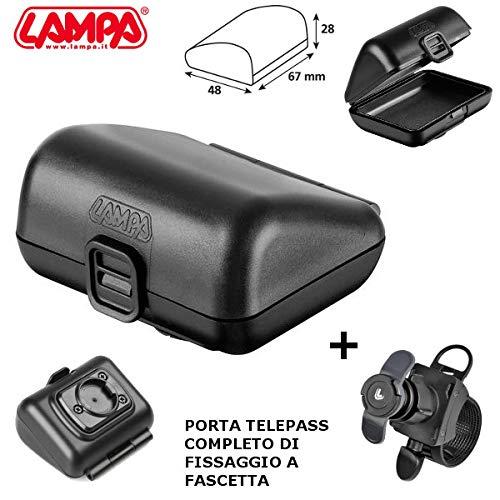 90451 Porta telepeaje Europeo Porta Dispositivo + Casquillo de Brida Tubular Manillar 90437 TM Racing Lampa