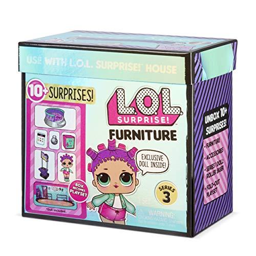 LOL Surprise Muñecas Coleccionables para Niñas , Con 10 Sorpresas y Accesorios , Roller Sk8er , Mobiliario Serie 3