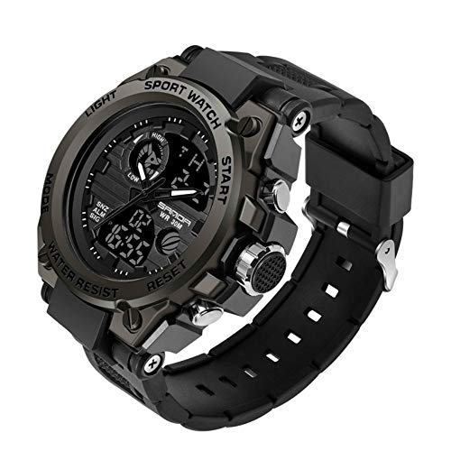 Men's Military Tactical Sports Watches- Luminous Dual Time Digital Boy Army...