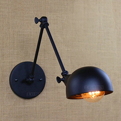 Crayom Retro negro ajustable de metal de pared de iluminación de estilo...