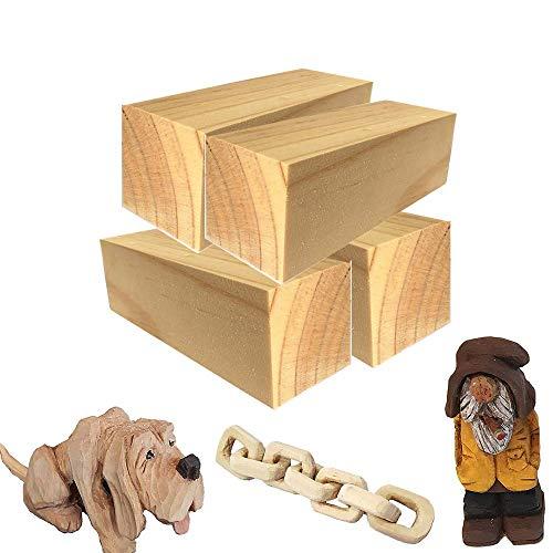 4 bloques de madera
